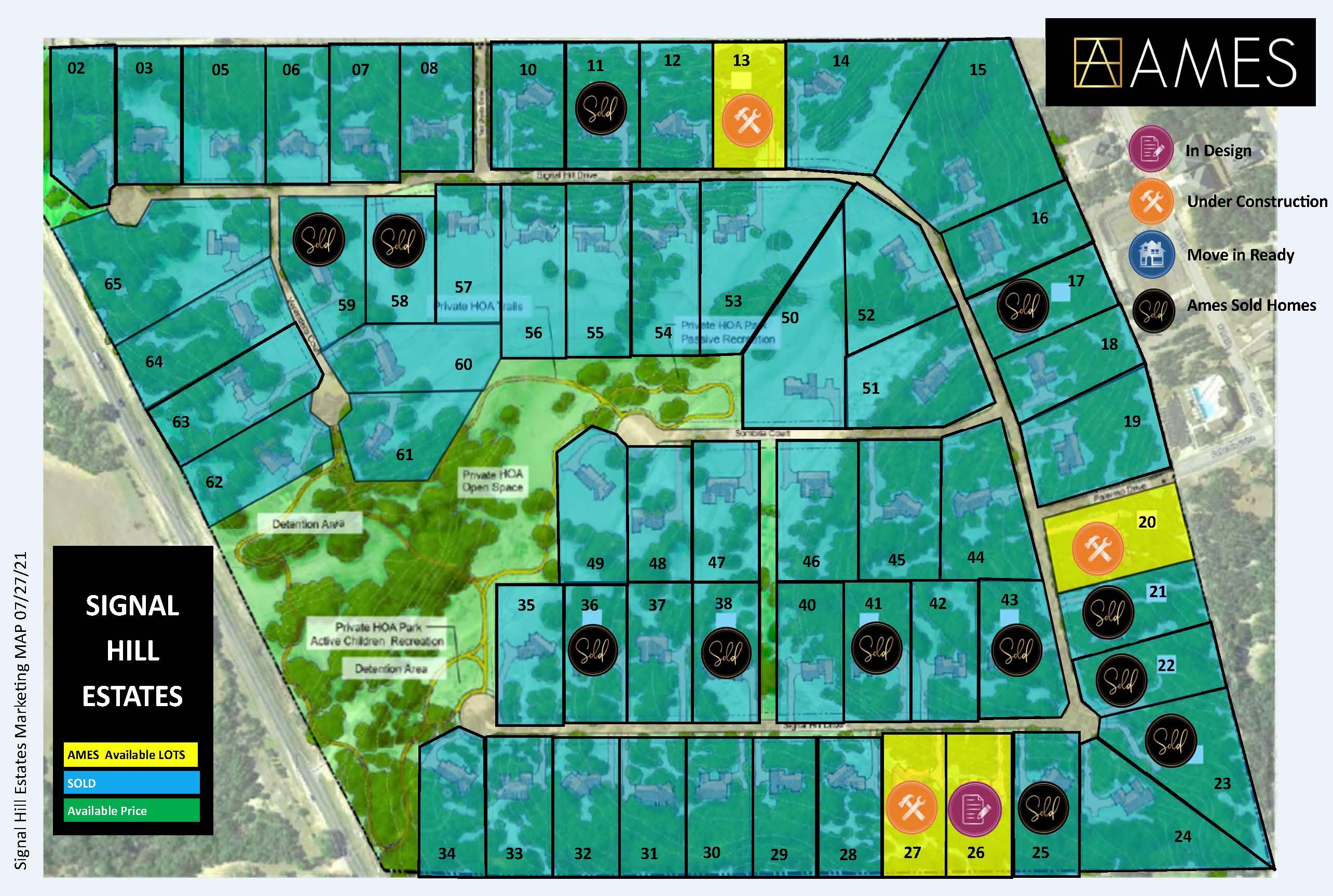 Signal Hill Estates Map